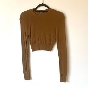 American Apparel cropped brown knit